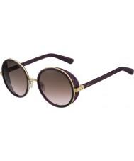 Jimmy Choo Damskie i czarne okulary przeciwsłoneczne 1kj