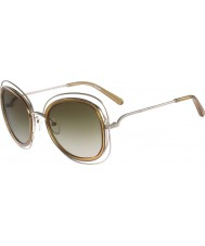 Chloe Damskie ce123s Carlina lśniące złote okulary