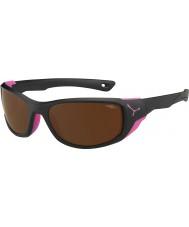 Cebe Jorasses średni czarny matowy różowy 2000 brązowy flash, lustrzane okulary
