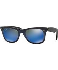 RayBan RB2140 50 Oryginalny Wayfarer niebieski gradient na jasnoniebieskim 120368 niebieskie lustrzane okulary