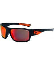Cebe Whisper matowe czarne pomarańczowe okulary