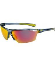 Cebe Cinetik duże matowe przezroczyste niebieskie okulary