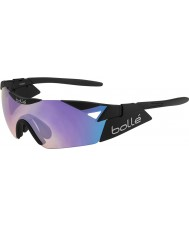 Bolle 6th Sense s matowe czarne niebiesko-fioletowe okulary