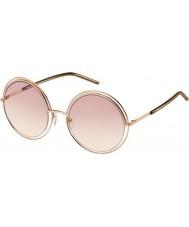 Marc Jacobs Panie Marc 11-s TXA 05 złote brązowe okulary