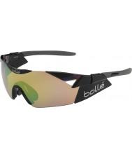 Bolle 6th Sense s błyszczące czarne modulator brązowy szmaragdowe okulary