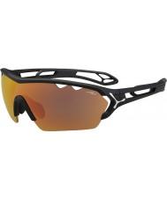 Cebe S-track mono duży czarny matowy szary 1500 lusterko pomarańczowe okulary z jasnym obiektywem zastępczej