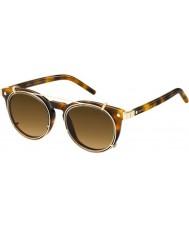 Marc Jacobs Marc 18-S u6j zx Hawana złote okulary