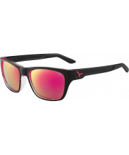 Cebe Hacker błyszczące czarne 1500 szara Flash lusterko różowe okulary