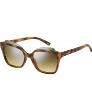 Marc Jacobs Panie Marc 106-S N36 gg Havana srebrne lustrzane okulary