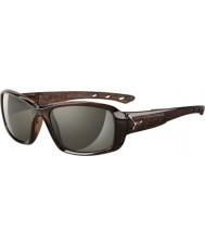 Cebe S-kiss błyszczące brązowe okulary Savannah