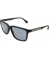 Emporio Armani Ea4047 56 nowoczesnych czarna guma 506381 spolaryzowane okulary