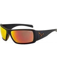 Cebe Utopy matowe czarne pomarańczowe okulary