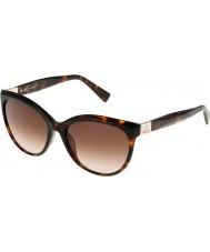 Furla Panie Zizi su4896s-743 błyszczące brązowe Hawana żółte okulary