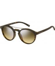 Marc Jacobs Marc 107-s n9p gg matowe srebrne Havana lustrzane okulary