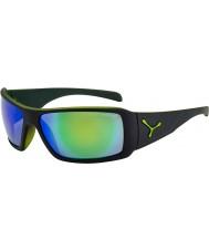 Cebe Utopy matowe czarne zielone okulary