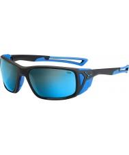 Cebe Proguide czarny matowy szary niebieski 4000 mineralne niebieskie okulary