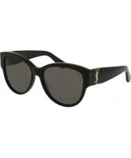 Saint Laurent Damskie okulary przeciwsłoneczne sl m3 002 55