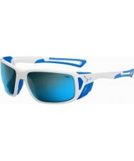 Cebe Proguide błyszczący biały niebieski 4000 szara mineralne niebieskie okulary