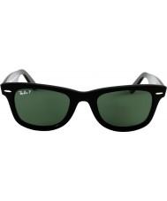 RayBan RB2140 54 Oryginalny Wayfarer Czarny Zielony 901-58 spolaryzowane okulary