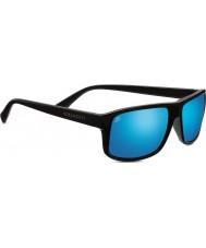 Serengeti Claudio satynowe ciemnoszary spolaryzowane 555nm niebieskie lustrzane okulary