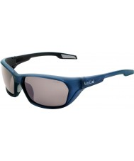 Bolle Aravis matowe niebieskie okulary spolaryzowane TNS gun