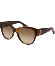 Saint Laurent Damskie okulary przeciwsłoneczne sl m3 005 55