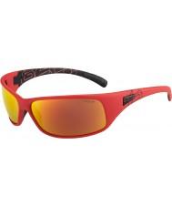 Bolle Odrzut matowe czerwone okulary spolaryzowane TNS ognia
