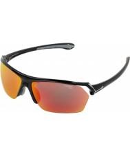 Cebe Dzikie błyszczące czarne okulary wielowarstwowe