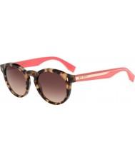 Fendi Kolor bloku FF 0085-s HK3 D8 Hawany różowe okulary