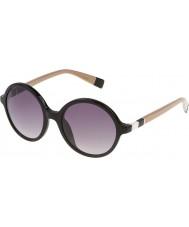Furla Women lola su4966-700y błyszczące czarne okulary
