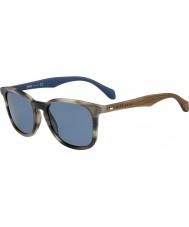 HUGO BOSS Mężczyźni Boss 0843-S IWF 9a rogowe okulary brązowe niebieskie