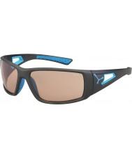 Cebe Sesja matowy szary niebieski variochrom Perfo okulary