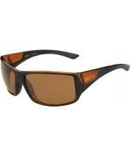 Bolle Wąż tygrysi błyszczące czarne matowe brązowe okulary spolaryzowane piaskowca gun