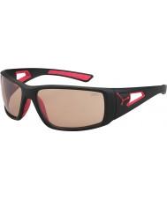 Cebe Sesja matowy czarny czerwony variochrom Perfo okulary