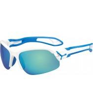 Cebe Cbspring3 s-pring białe niebieskie okulary słoneczne