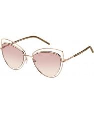 Marc Jacobs Panie Marc 8-ów TXA 05 złote brązowe okulary