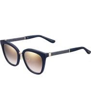 Jimmy Choo Fabry-s Ladies KCA nh blue glittery Gold Mirror okulary