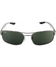 RayBan Rb8316 62 tech włókno węglowe gunmetal zielone 004 okulary