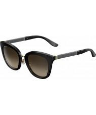 Jimmy Choo Fabry-s Ladies FA3 J6 czarny glittery okulary