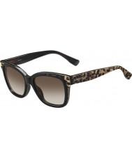 Jimmy Choo Women Bebi-ów PUE J6 zwierząt czarne okulary