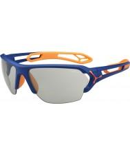 Cebe S-track duże matowe niebiesko pomarańczowe variochrom Perfo okulary