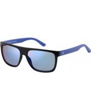 Tommy Hilfiger Mężczyźni th 1277-S FB1 23 czarne niebieskie okulary