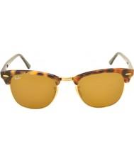 RayBan Rb3016 51 Clubmaster zauważony brązowe okulary Havana 1160