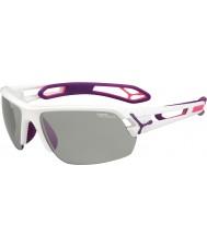 Cebe S-track średnie Biały Fioletowy variochrom Perfo okulary