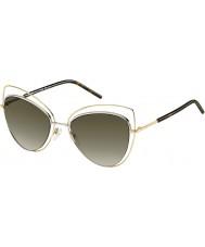 Marc Jacobs Panie Marc 8-ów APQ ha złota ciemne okulary Hawanie