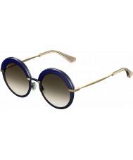 Jimmy Choo Women Gotha-S 3UE js niebieskie złote okulary