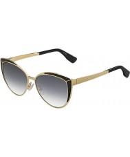 Jimmy Choo Panie Domi-s psu 9c złote czarne okulary
