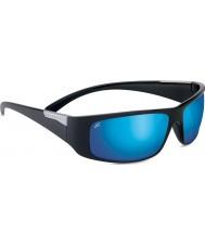 Serengeti Fasano błyszczące czarne spolaryzowane dr 555nm niebieskie lustrzane okulary