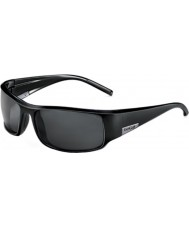 Bolle Król błyszczące czarne okulary spolaryzowane TNS