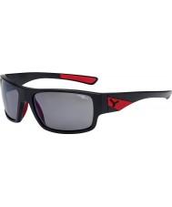 Cebe Whisper matowy czarny czerwony 1500 szare lustrzane okulary spolaryzowane Flash
